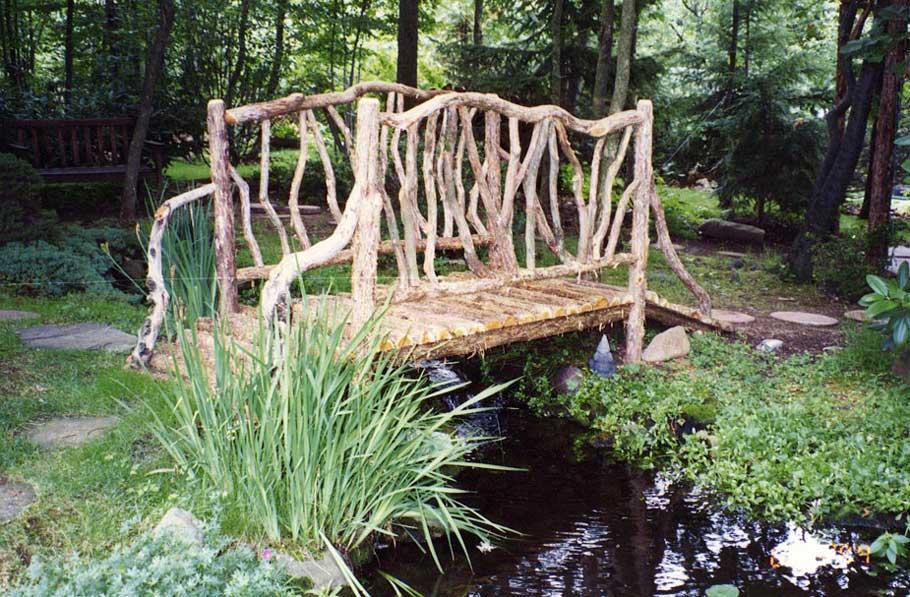 Rustic Garden Bridges Innovation Pixelmari Com