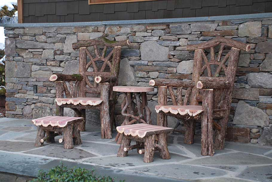 Outdoor Rustic Chairs Thrones Patio Dining Sets Picnic Tables For Sale