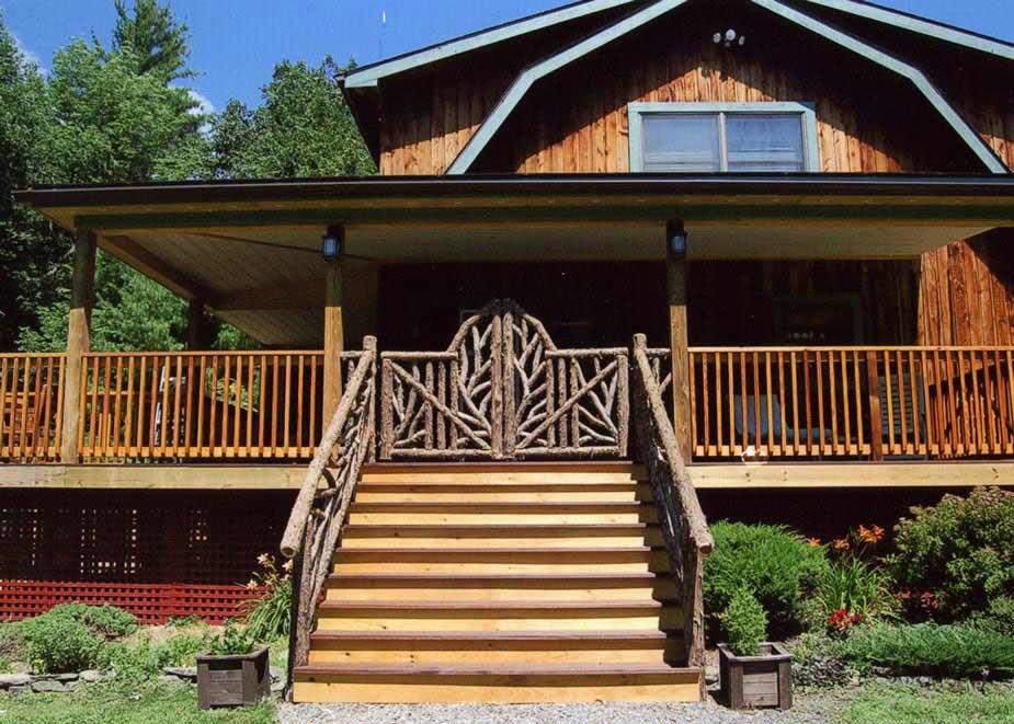 Rustic Garden Fencing & Gates | Wooden Deck & Log Porch ...