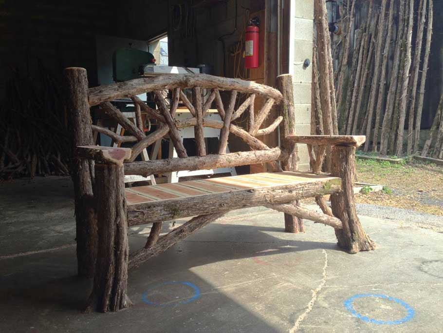 Outdoor Rustic Benches Park Benches Patio Furniture