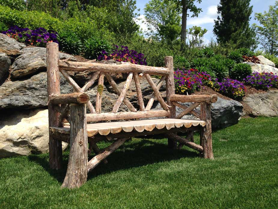 Outdoor Rustic Benches Park Benches Patio Furniture Tree Benches For Sale