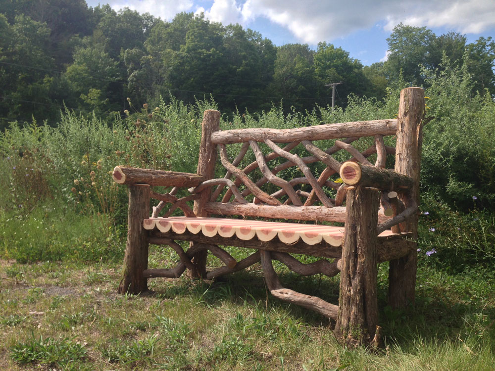 Outdoor Rustic Benches Park