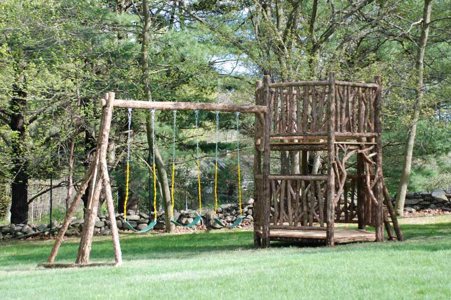 rustic swing set 3