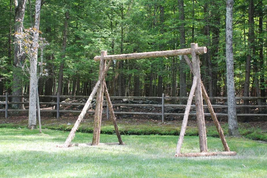 Rustic Tree Towers Wood Swing Sets Custom Play Forts