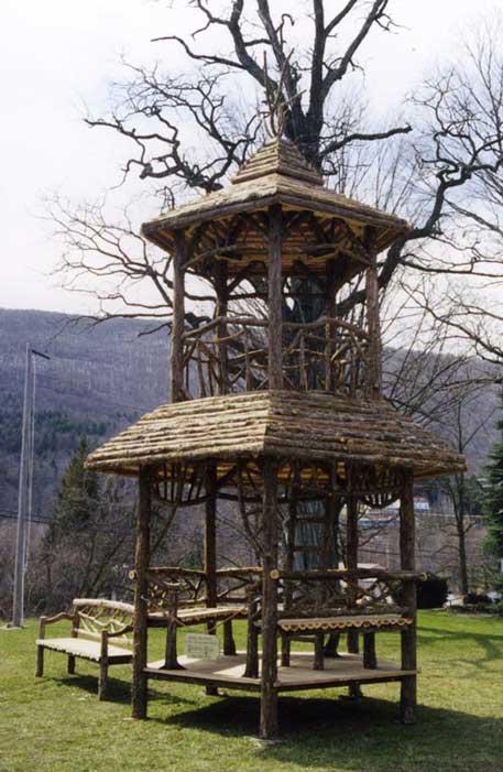 Rustic Tree Towers   Wood Swing Sets   Custom Play Forts ...