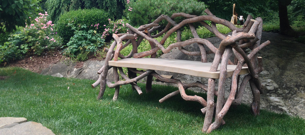 Outdoor Rustic Garden Furniture Woodland Structures Custom - Woodland patio furniture