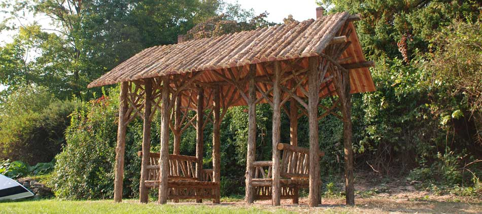 Artisan Built Outdoor Rustic Furniture And Woodland Garden Structures By  Rob Davis