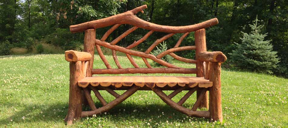 Outdoor Rustic Garden Furniture Woodland Structures Custom Built